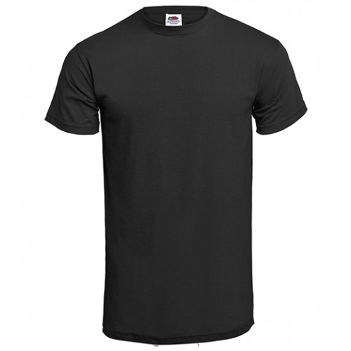 Fruit of the loom T-shirt Valueweight Crew Neck Black