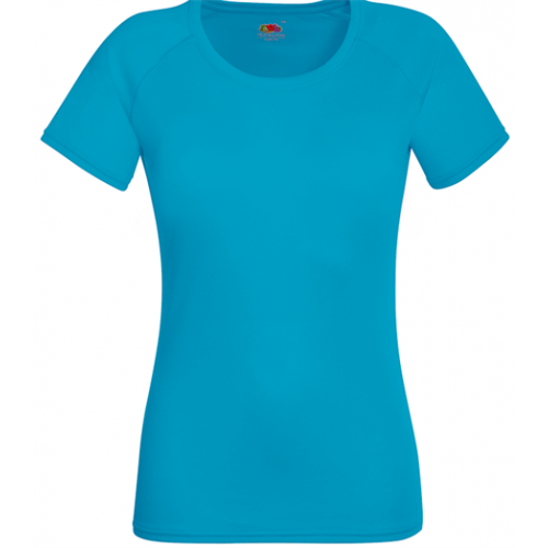 Fruit of the loom Lady Fit Performance T Azure Blue