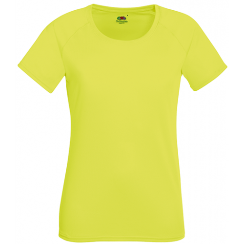 Fruit of the loom Lady Fit Performance T XK Bright Yellow