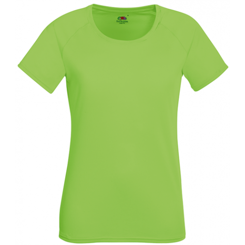 Fruit of the loom Lady Fit Performance T Lime