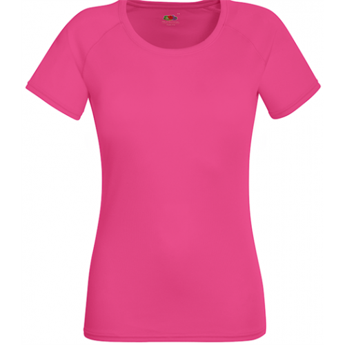 Fruit of the loom Lady Fit Performance T Fuchsia