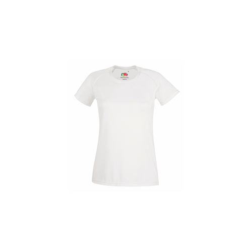 Fruit of the loom Lady Fit Performance T White
