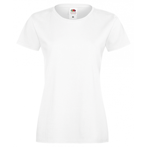 Fruit of the loom Lady Fit Sofspun T White