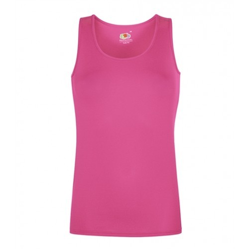 Fruit of the Loom Lady-Fit Performance Vest Fuchsia