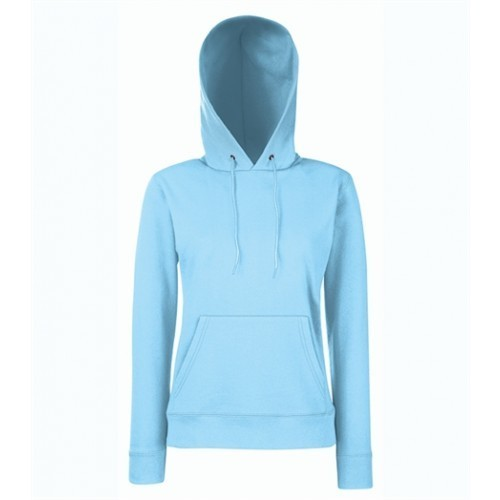 Fruit of the loom Lady-Fit Hooded Sweat Sky Blue