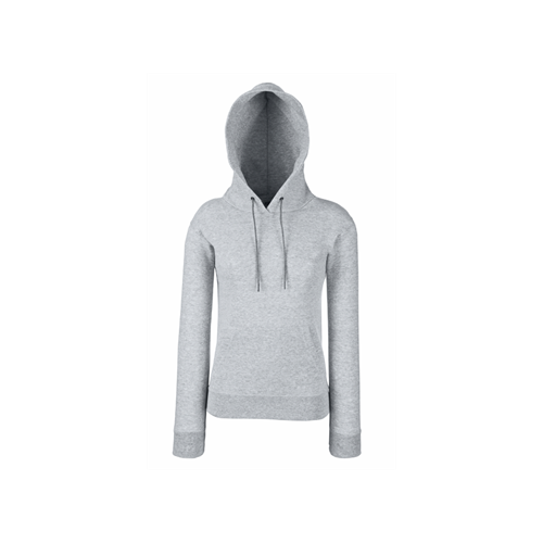 Fruit of the loom Lady-Fit Hooded Sweat Heather Grey