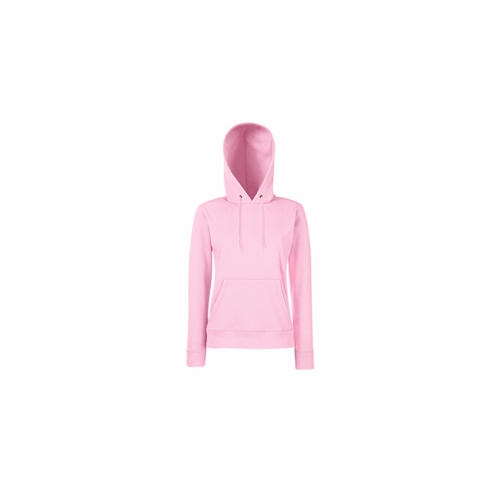 Fruit of the loom Lady-Fit Hooded Sweat Light Pink