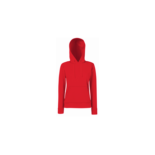 Fruit of the loom Lady-Fit Hooded Sweat Red