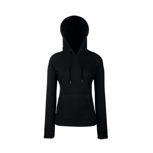 Fruit of the loom Lady-Fit Hooded Sweat Black