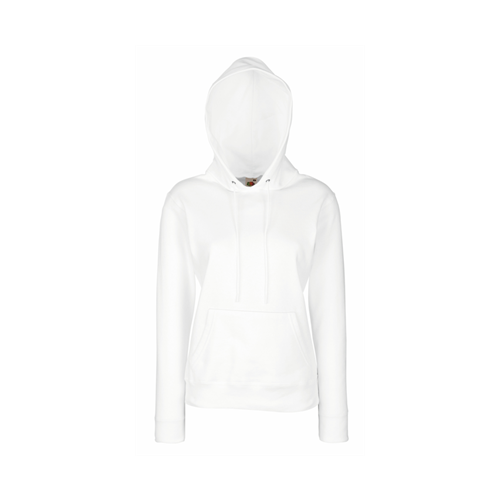 Fruit of the loom Lady-Fit Hooded Sweat White