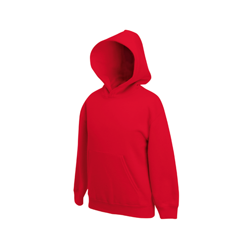 Fruit of the loom Kids Hooded Sweat Red