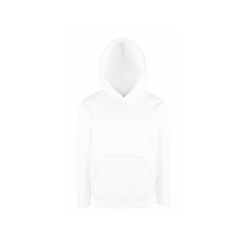 Fruit of the loom Kids Hooded Sweat White