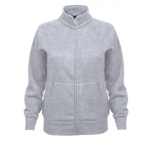 Fruit of the loom Lady Fit Sweat Jacket Heather Grey