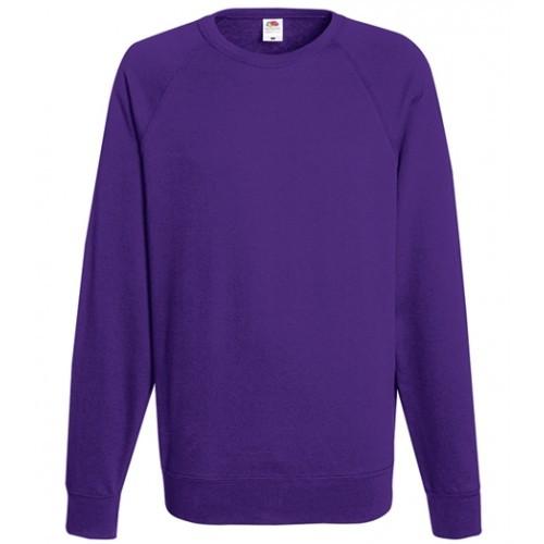 Fruit of the loom Lightweight Raglan Sweat Purple