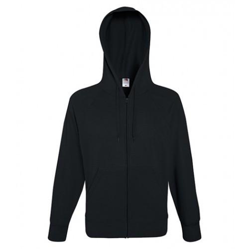 Fruit of the loom Lightweight Hooded Sweat Jacket Black
