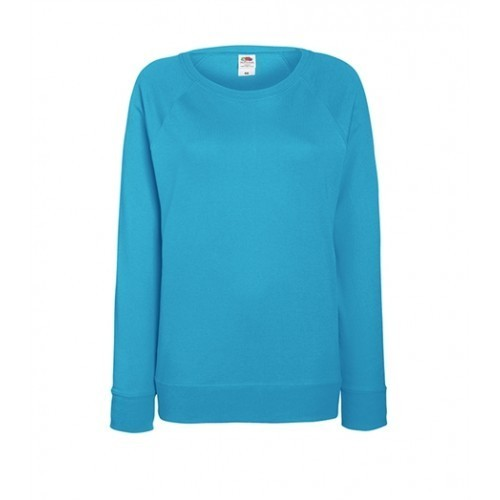 Fruit of the loom Lady-Fit Lightweight Raglan Sweat Azure Blue