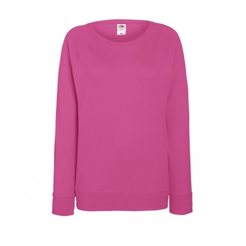 Fruit of the loom Lady-Fit Lightweight Raglan Sweat Fuchsia