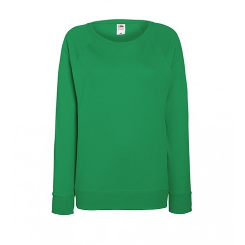Fruit of the loom Lady-Fit Lightweight Raglan Sweat Kelly Green