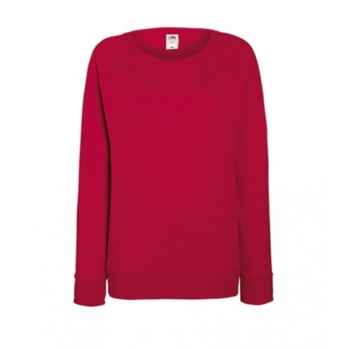 Fruit of the loom Lady-Fit Lightweight Raglan Sweat Red