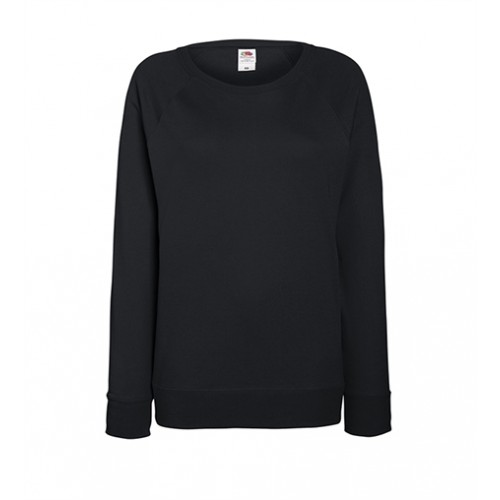 Fruit of the loom Lady-Fit Lightweight Raglan Sweat Black