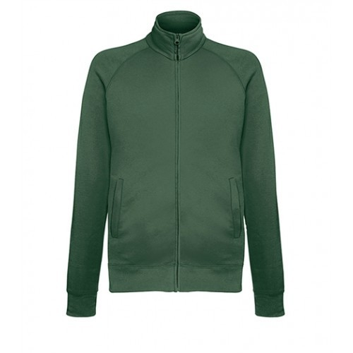 Fruit of the loom Lightweight Sweat Jacket BOTTLE GREEN