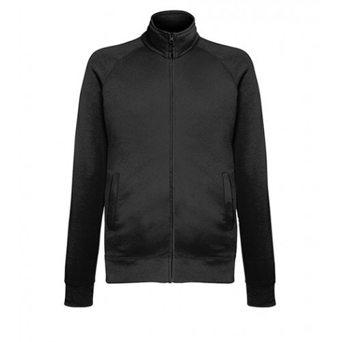 Fruit of the loom Lightweight Sweat Jacket BLACK