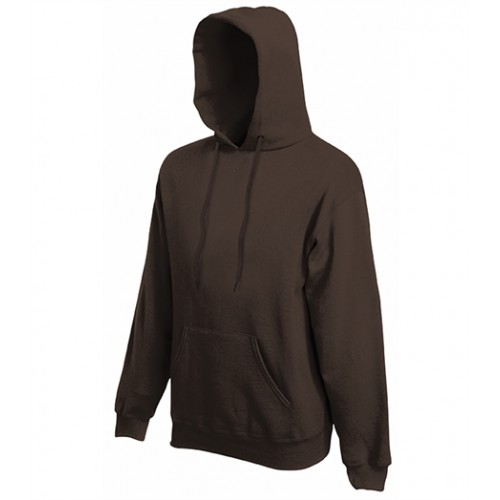 Fruit of the Loom Classic Hooded Sweat Chocolate
