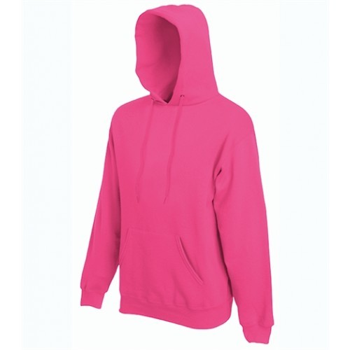 Fruit of the Loom Classic Hooded Sweat Fuchsia