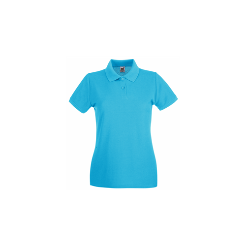Fruit of the Loom Lady Fit Premium Polo Azure