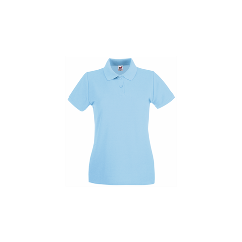 Fruit of the Loom Lady Fit Premium Polo Sky Blue