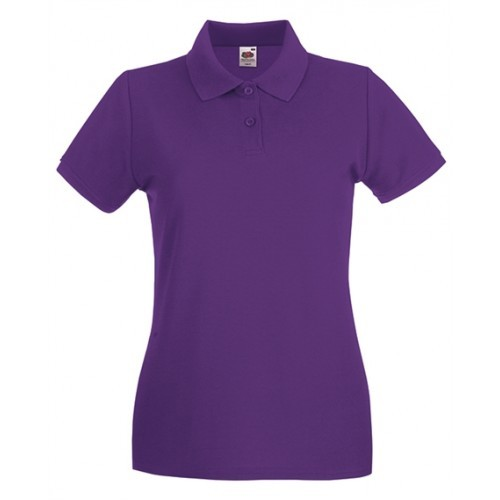 Fruit of the Loom Lady Fit Premium Polo Purple