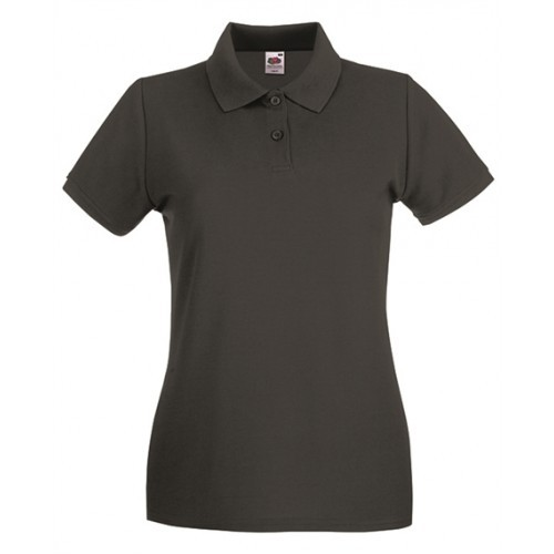 Fruit of the Loom Lady Fit Premium Polo Light Graphite