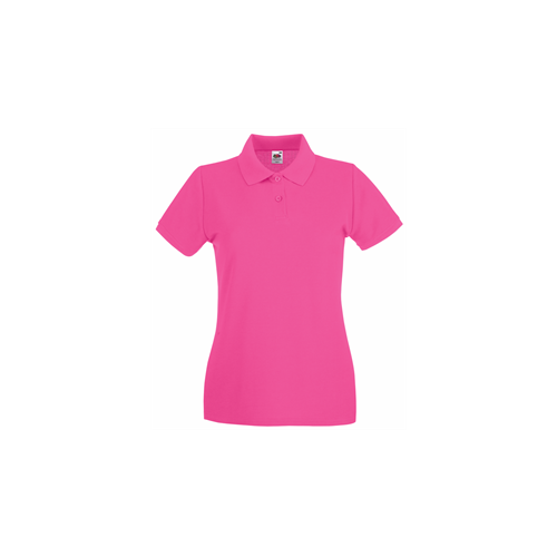 Fruit of the Loom Lady Fit Premium Polo Fuschia