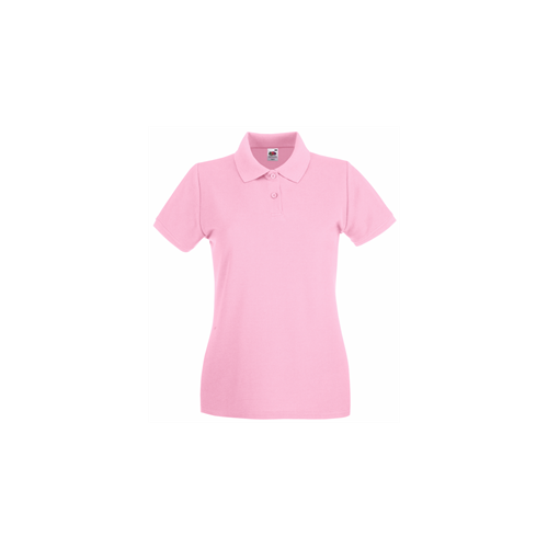 Fruit of the Loom Lady Fit Premium Polo Light Pink