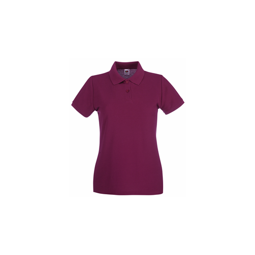 Fruit of the Loom Lady Fit Premium Polo Burgundy