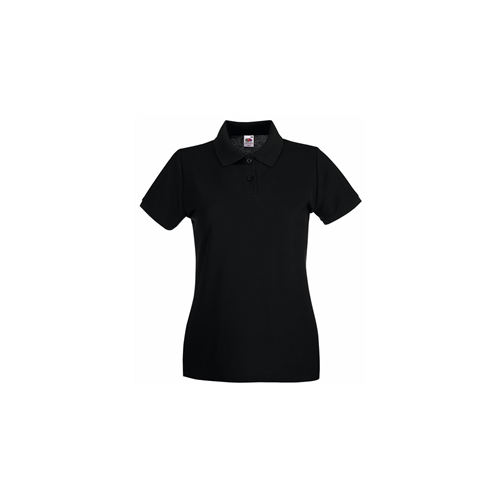 Fruit of the Loom Lady Fit Premium Polo Black
