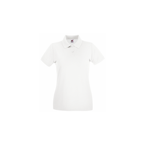 Fruit of the Loom Lady Fit Premium Polo White