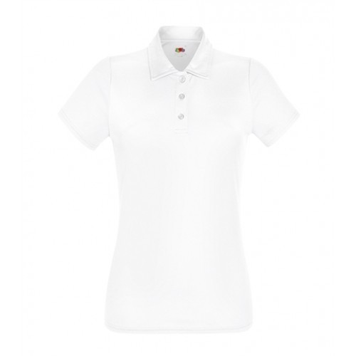 Fruit of the Loom Lady-Fit Performance Polo White