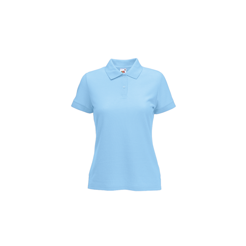 Fruit of the loom Lady Fit 65/35 Polo Sky Blue