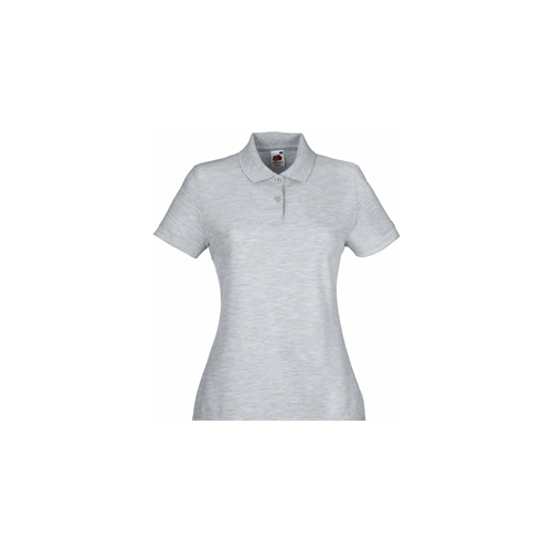 Fruit of the loom Lady Fit 65/35 Polo Heather Grey