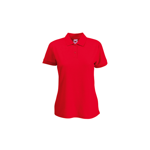 Fruit of the loom Lady Fit 65/35 Polo Red