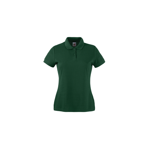 Fruit of the loom Lady Fit 65/35 Polo Bottle Green