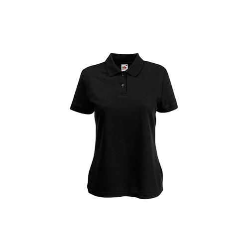 Fruit of the loom Lady Fit 65/35 Polo Black