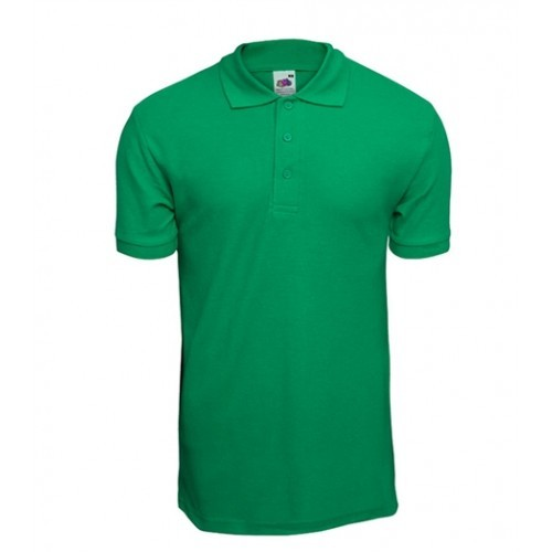 Fruit of the loom Pique 65/35 Polo Kelly Green