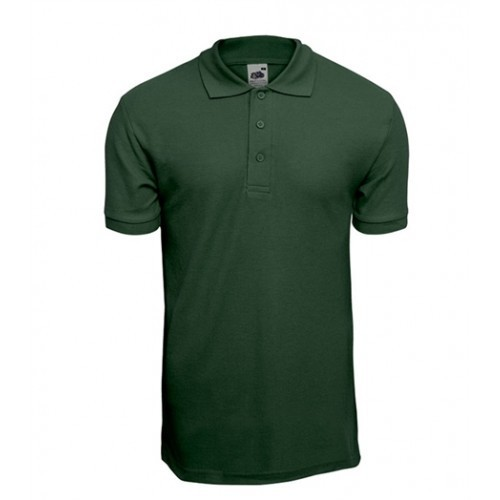 Fruit of the loom Pique 65/35 Polo Bottle Green