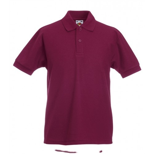 Fruit of the loom Kids 65/35 Polo Burgundy