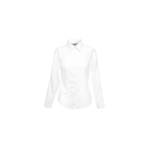 Fruit of the loom Lady-Fit Long Sleeve Oxford Shirt White