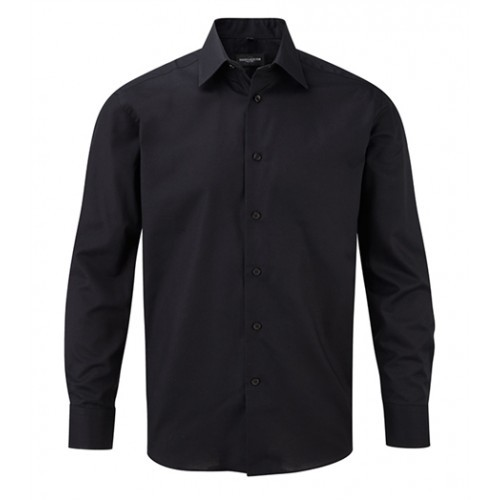 Russell Men´s LS Easy Care Tailored Oxford Shirt Black