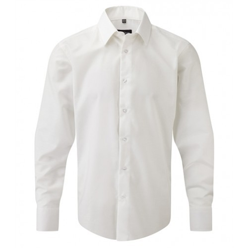 Russell Men´s LS Easy Care Tailored Oxford Shirt White