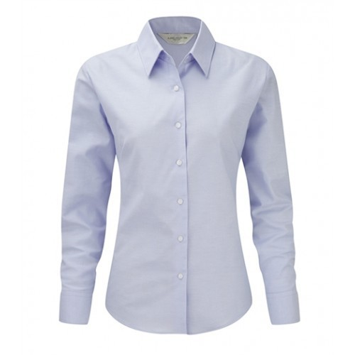 Russell Ladies LS Easy Care Oxford Oxford Blue